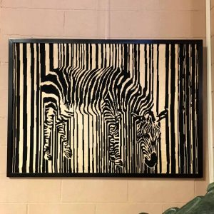 Framed Zebra Tapestry