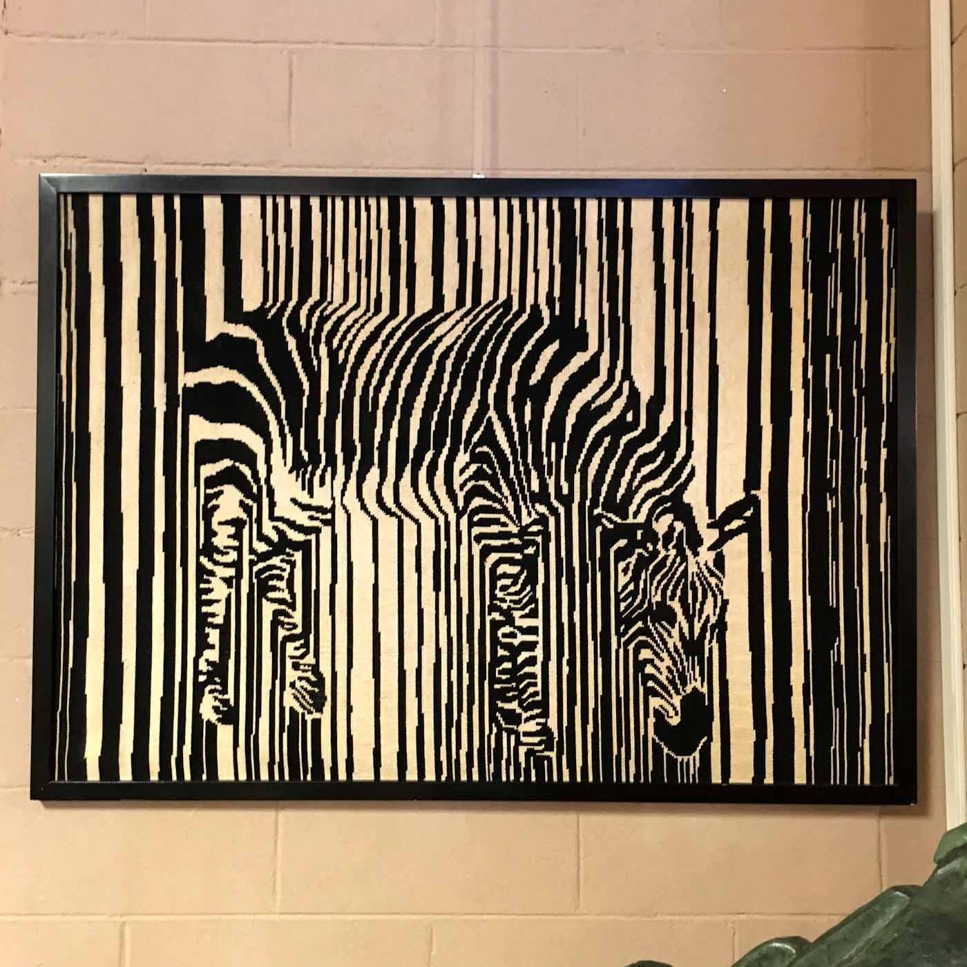 Framed Zebra Tapestry – Capocchi: Fine Furnishings & Interior Design
