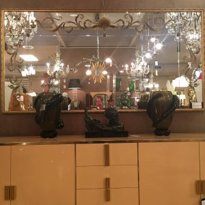 French Verre Eglomise Mirror