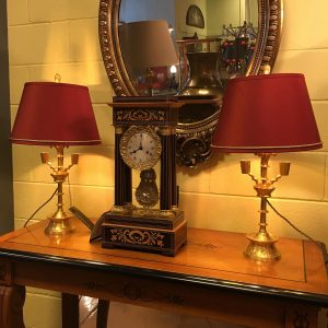 Pair of Gilt Bronze Lamps