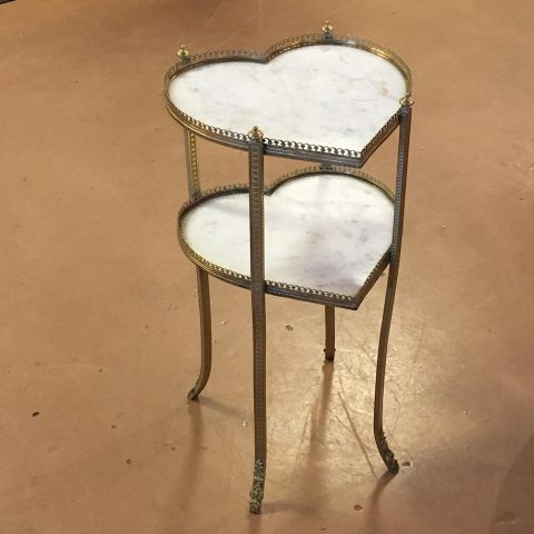Vintage French Heart Shaped Side Table