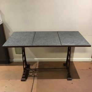 Cast Iron Cafe Table with Stone Top