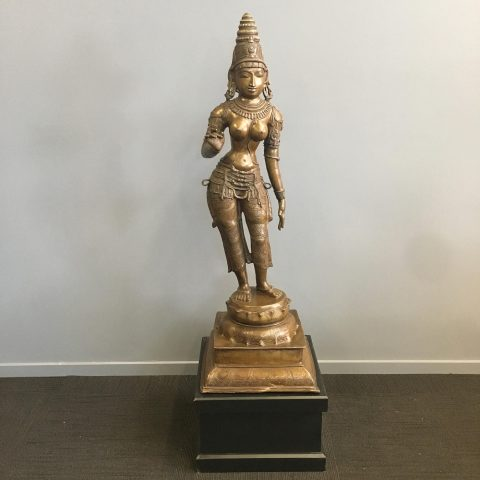 South Indian Bronze Figure of Parvati