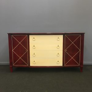Unique French Lacquered Buffet from the 1940s