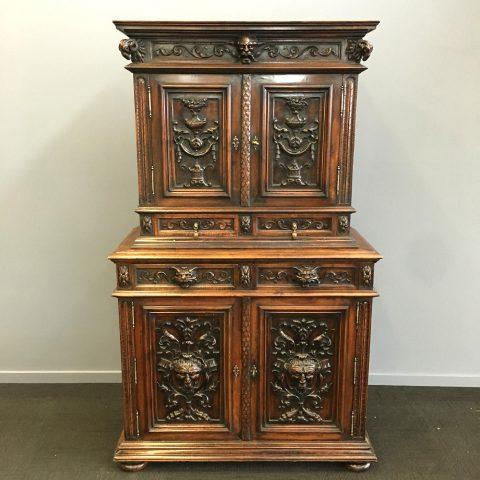 Carved Renaissance Manner Cabinet