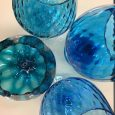 Italian Blue Glass Comports