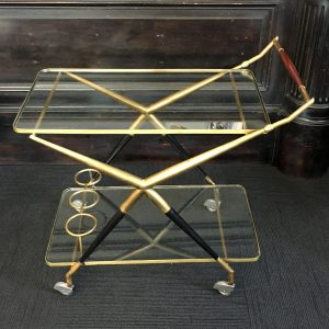 Italian 1950s Mid Century Bar Cart by Cesare Lacca