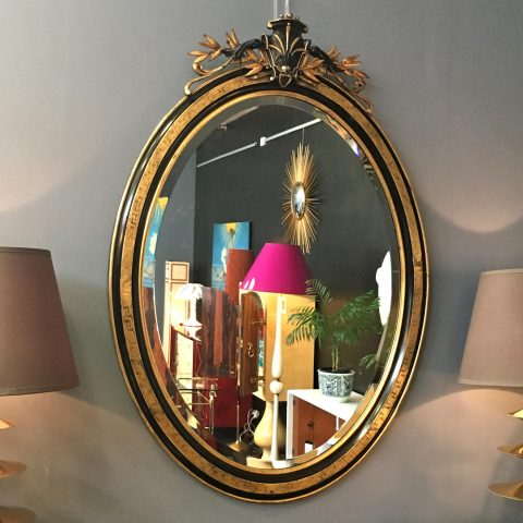 Napoleon III Ebonised and Water Gilt Mantel Mirror