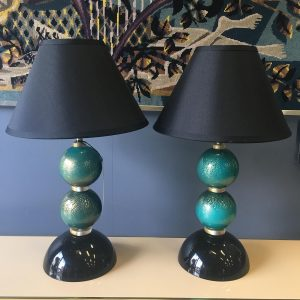 Pair of Italian Murano Glass Lamps