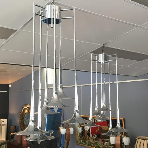 Pair of Hanging Lights by Reggiani