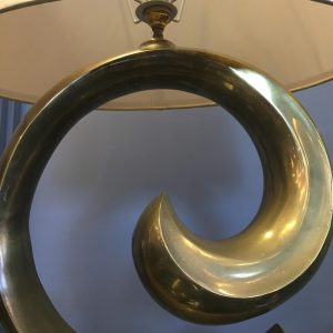 Vintage French Brass Lamp by Pierre Cardin