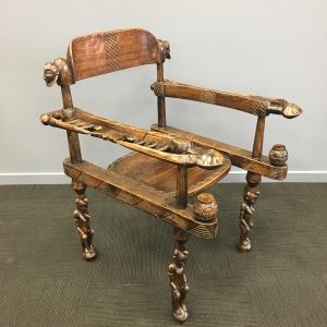Intricately Carved African Chieftan's Chair