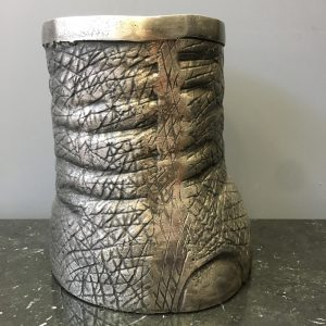 French Pewter Paper Bin