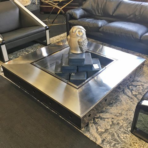 Low Vintage Coffee Table with Drawers