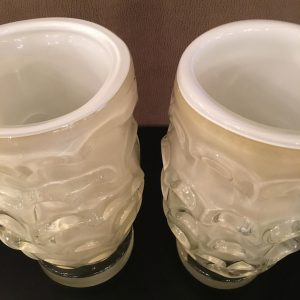 Pair of Vintage Italian Glass Vases