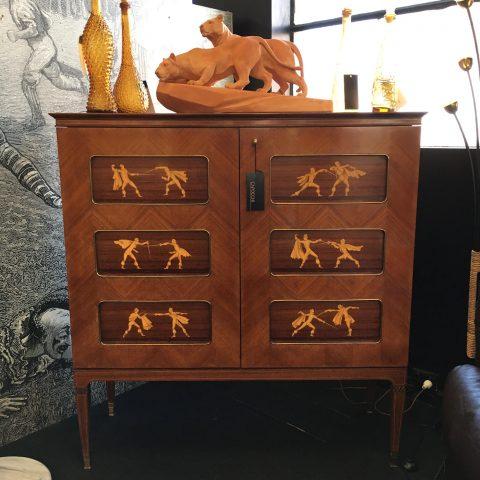 Impressive Italian Rosewood Cocktail Cabinet