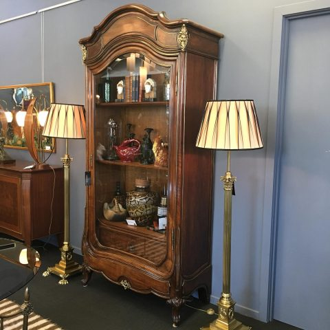 French Antique Bookcase in Walnut