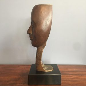 Vintage Belgian Bronze Mask