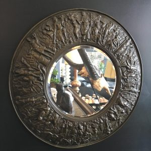 French Brass Circular Mirror