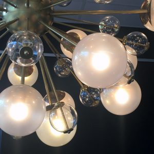Impressive Sputnik Style Italian Chandelier