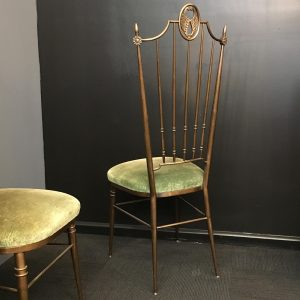 Pair of Parisian Brass Chairs