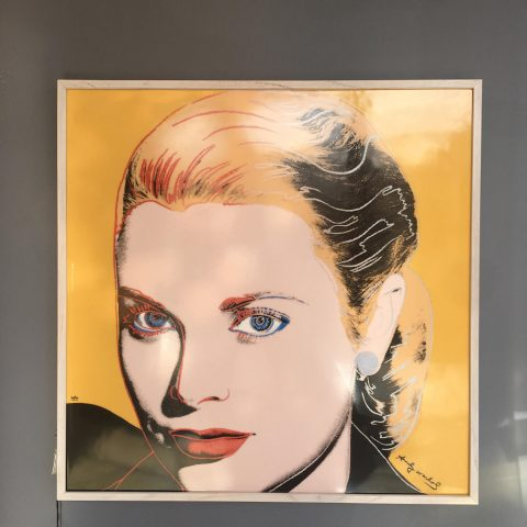 Ceramic Plaque Depicting Andy Warhol's Grace Kelly