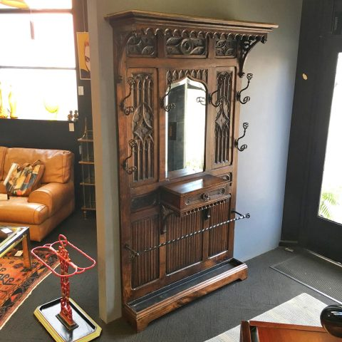 Antique French Gothic Revival Hallstand