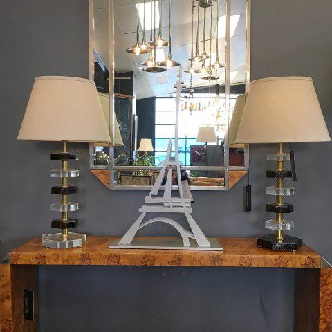 Pair of Italian Murano Glass Lamps