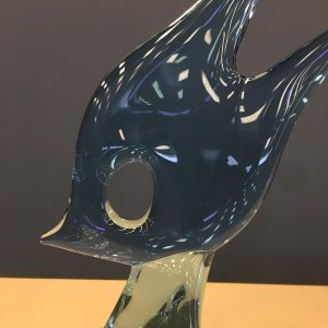 Italian Glass Sculpture of a Fish