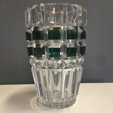 Belgian Crystal Glass Vase by Val St Lambert