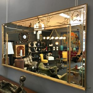 French Verre Eglomise Mantel Mirror