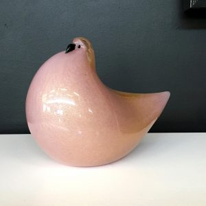 Italian Glass Pink Dove