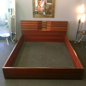 Important Italian Queen Size Bed by Luciano Frigerio
