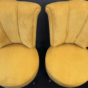 Pair of French Roll Back Bedroom Chairs