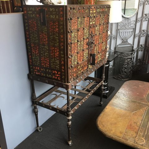 Spanish Blacksmithed Wrought Iron Cabinet