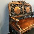 Antique Carved Rosewood Bench by Viardot