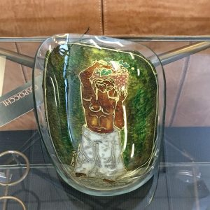 Vintage Italian Decorative Glass Dish