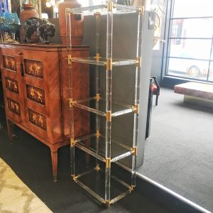 American Plexiglass Shelving Unit