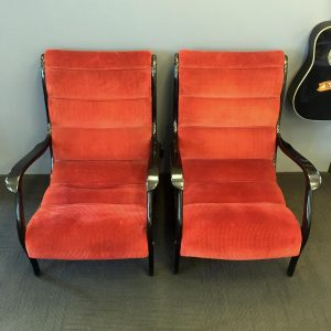Pair of Italian Armchairs by Ezio Longhi for Elam