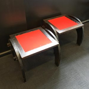 Pair of Ebonised Oak Side Tables
