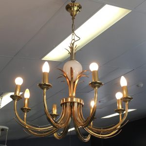 1980s Italian Brass Hanging Light