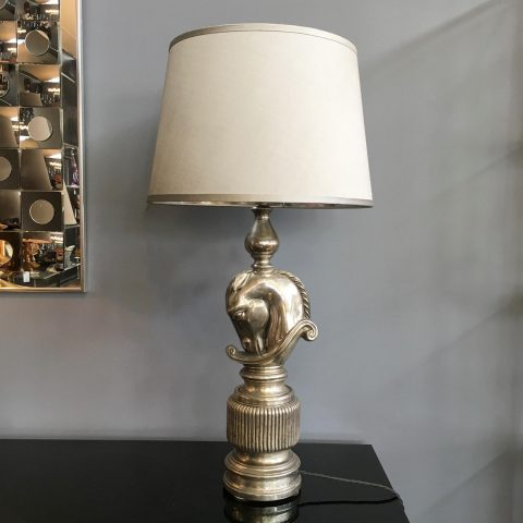 French Nickle Plated Table Lamp