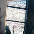 Interesting Acid Etched Mirrored Panel with Aztec patterning