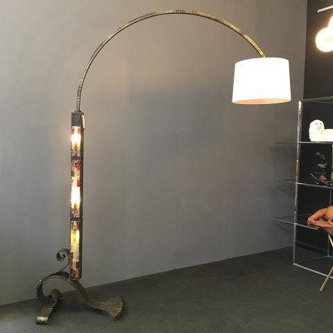 Italian Brutalist Wrought Iron Standard Lamp