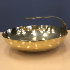 1980s Italian Yellow Brass Handled Dish