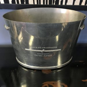 French Pewter Champagne Coupe for Duval le Roy