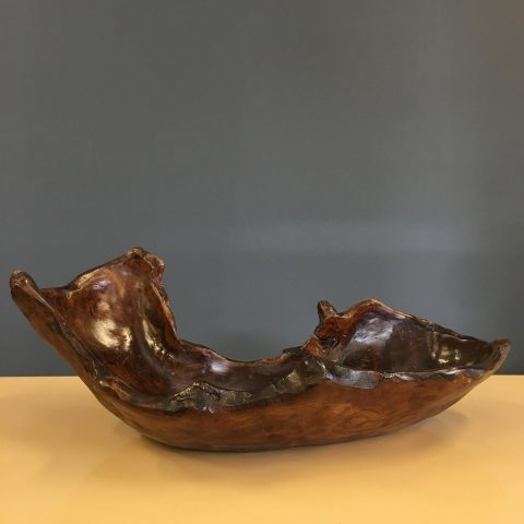 Sculptural Carved Timber Bowl