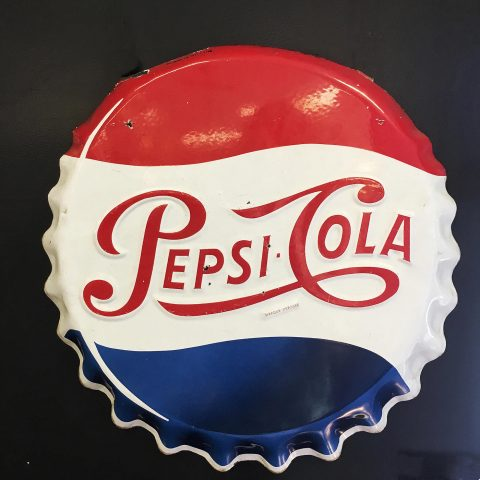 Vintage French Pepsi Cola Sign