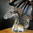 French Glass Horse Head by Daum Nancy
