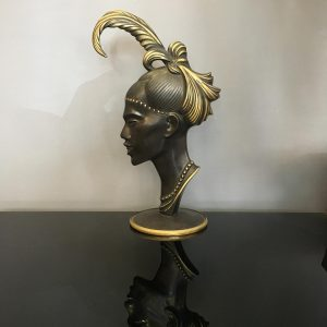 1950s Bronze Bust by Richard Rohac